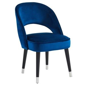 !nspire Velvet Side or Dining Chairs - Blue - Set of 2