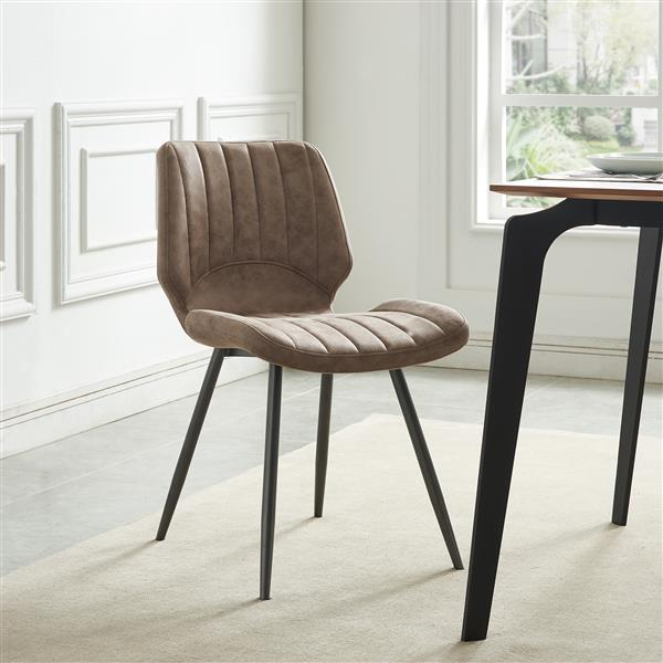 !nspire Dining Chair - Faux Suede - 30.75-in - Brown - Set of 2