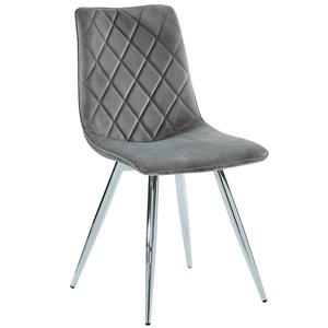 !nspire Dining Chair - 34-in - Grey Velvet - Set of 2