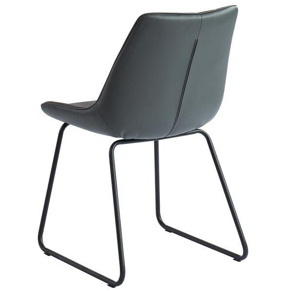 !nspire Faux Leather Dining chair - 32.25-in - Charcoal Grey - Set of 2