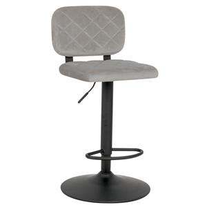 !nspire Adjustable Height Velvet Stool - Grey - Set of 2
