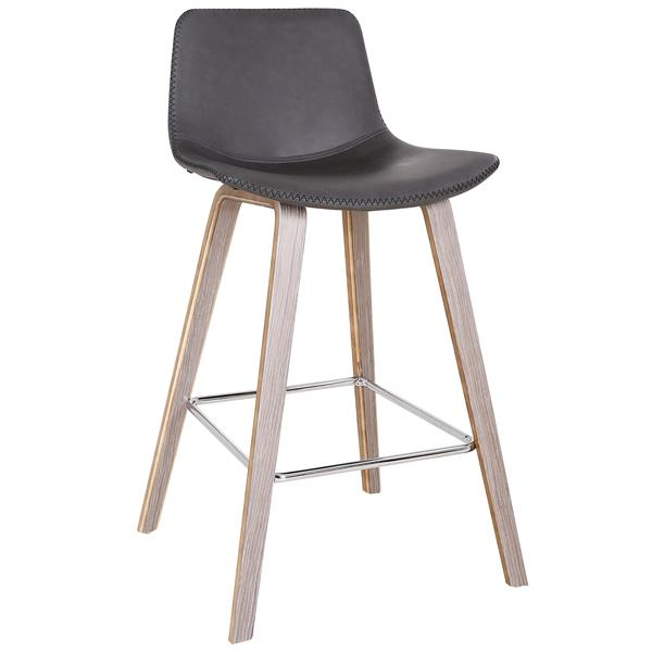 !nspire Mid Century Counter Stool - Charcoal - 26-in - Set of 2