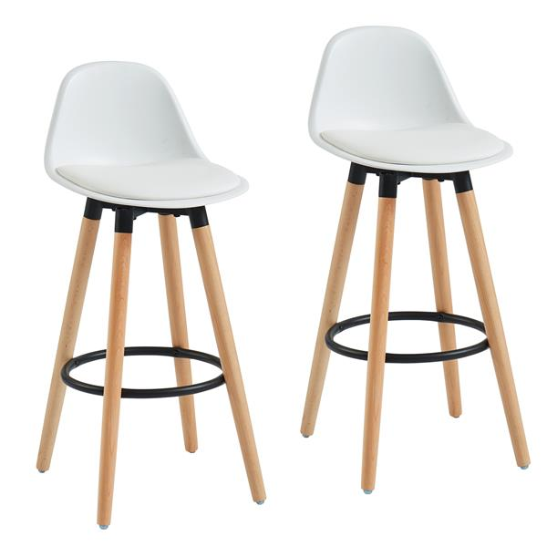WHI ABS Molded Counter Stool - White - Set of 2