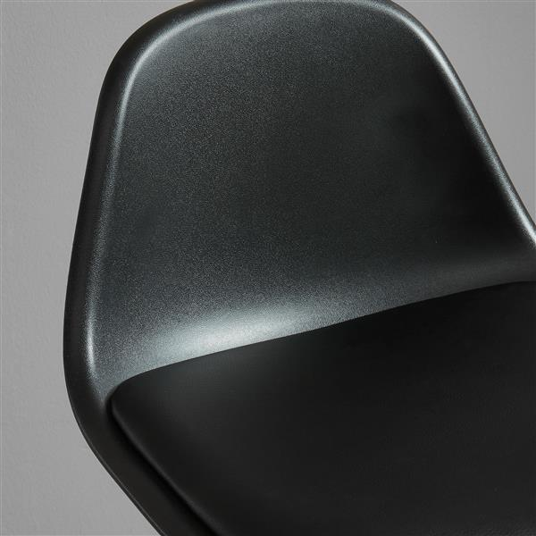 WHI ABS Molded Counter Stool - Black - Set of 2
