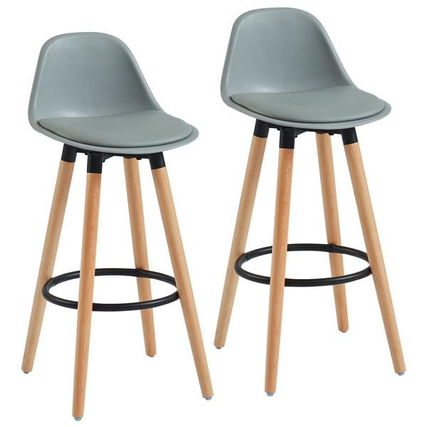 WHI ABS Molded Counter Stool - Gris - Set of 2