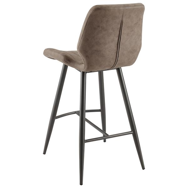 Fine Nspire Faux Suede Counter Stool Brown Set Of 2 203 342Bn Gmtry Best Dining Table And Chair Ideas Images Gmtryco