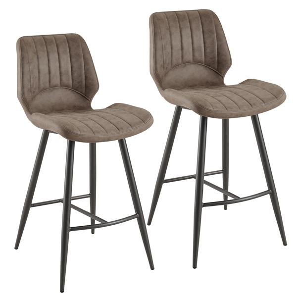 Magnificent Nspire Faux Suede Counter Stool Brown Set Of 2 203 342Bn Gmtry Best Dining Table And Chair Ideas Images Gmtryco