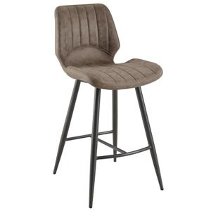 !nspire Faux Suede Counter Stool - Brown - Set of 2