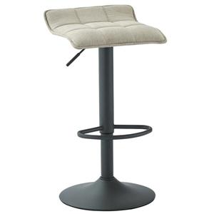 WHI Adjustable Height Fabric Stool - Beige/Grey - Set of 2