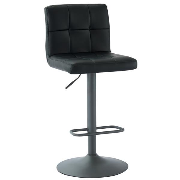 WHI Adjustable Height Fabric Stool -  Black - Set of 2