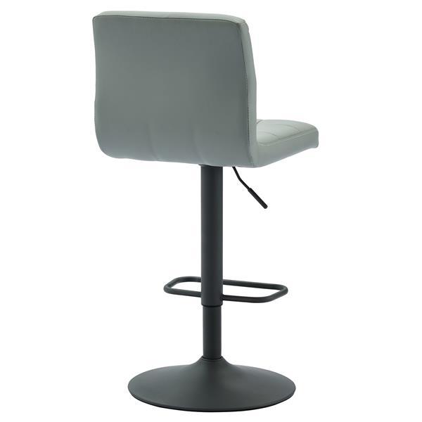 WHI Adjustable Height Fabric Stool -  Light Grey - Set of 2