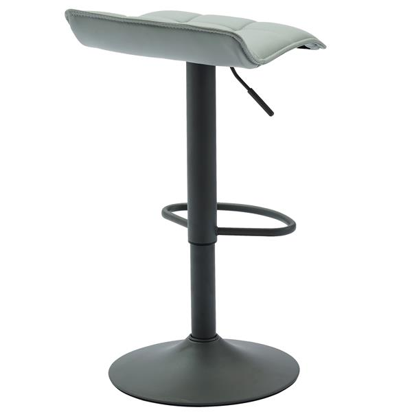 WHI Adjustable Height Faux Leather Stool - Grey - Set of 2