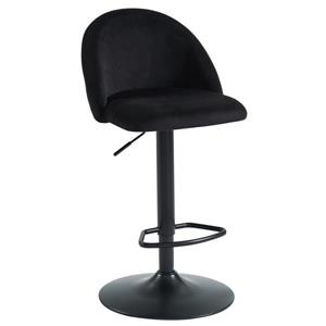 !nspire Adjustable Height Velvet Stool - Black