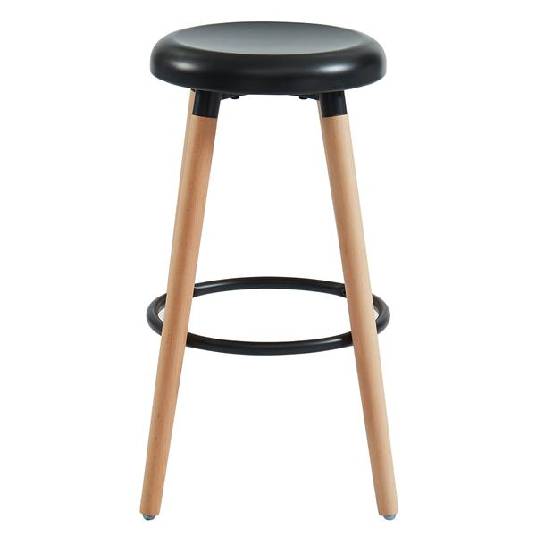 WHI Mid-Century Counter Stool - Wood and Black - Set of 2