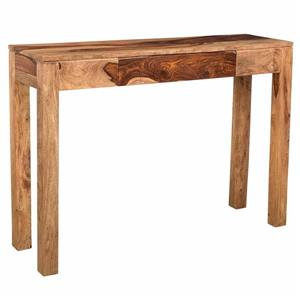 !nspire Console Table - 42-in x 30-in x 12-in - Dark Sheesham Wood