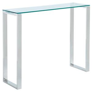 !nspire Console Table - 30.75-in x 39.5-in - Clear Glass and Chrome Base