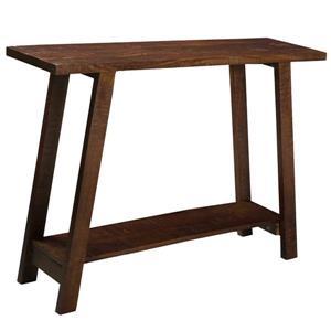 Table console !nspire en bois massif de manguier, 42 po x 30 po, brun