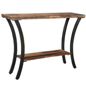 !nspire Industrial Console Table - Solid Mango Wood - 42-in x 30-in - Brown
