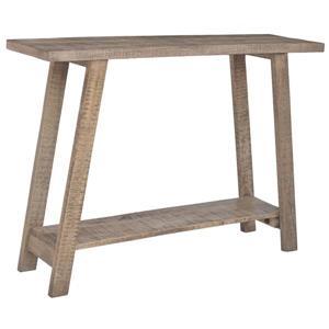 Table console !nspire de style industriel en bois, 42 po, gris et beige