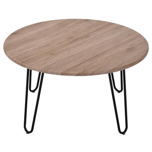 "WHI Coffee Table -  Faux wood/Metal - 31.5"""