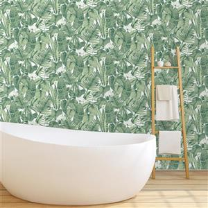 Tempaper Tropical Wallpaper - Jungle Green - 56 sq. ft.