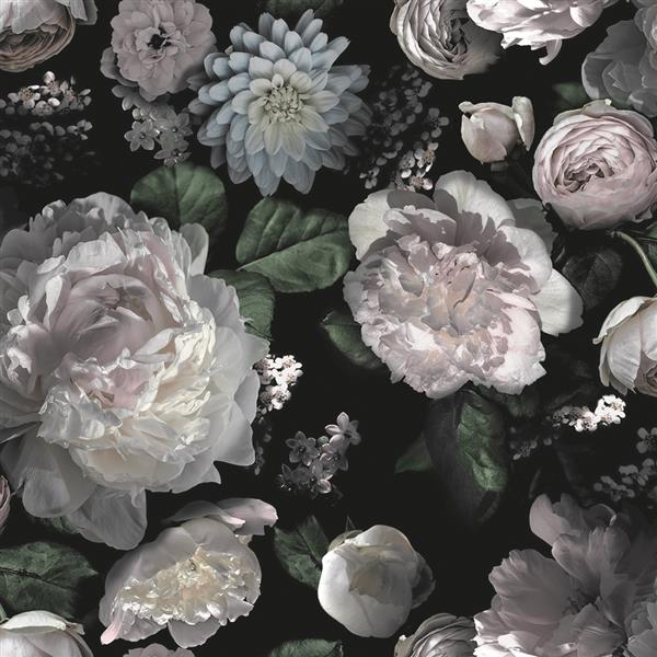 "Papier peint ""Moody Floral"", multicolore, 60 pi ca"