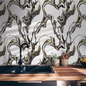 Tempaper Marble Wallpaper - Onyx - 56 sq. ft.