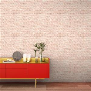 Tempaper Moire Dots Wallpaper - Coral - 28 sq. ft.