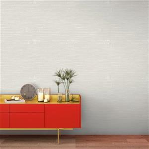 Tempaper Moire Dots Wallpaper - Pearl Grey - 28 sq. ft.