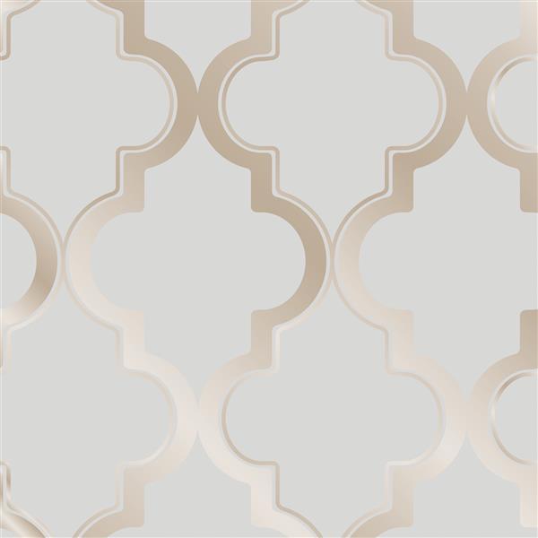 Marrakesh Wallpaper - Bronze Gray - 56 sq. ft.