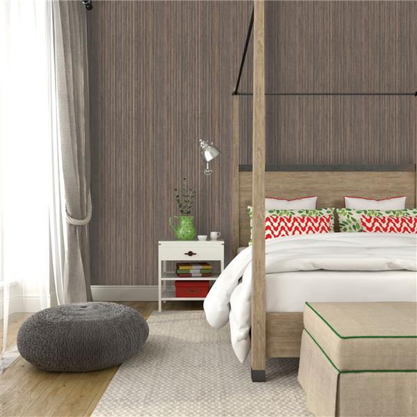 Tempaper Grasscloth Wallpaper - Bronze - 56 sq. ft.