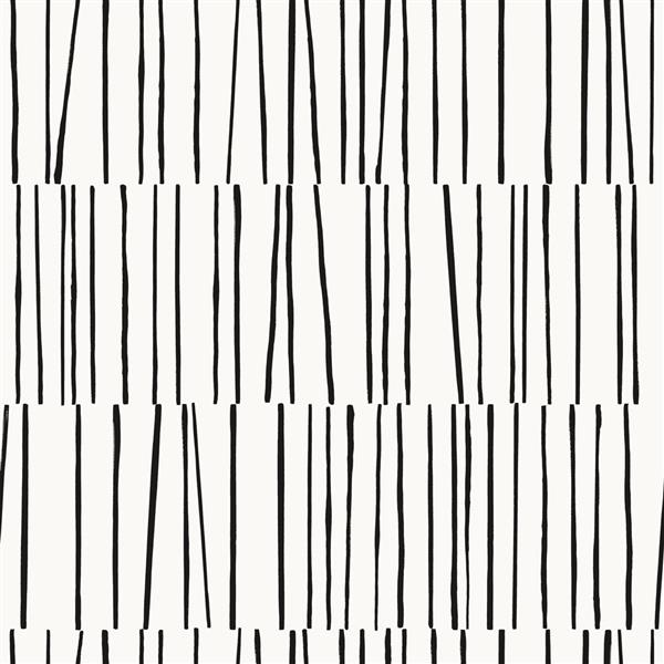 """Papier peint """"Shift"""", noir et blanc, 56 pi ca"""