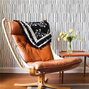 Tempaper Shift Wallpaper - Black & White - 56 sq. ft.