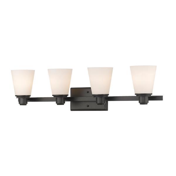 Z-Lite Kayla Transitional 4-Light Vanity Light - Bronze