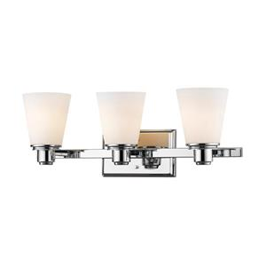 Z-Lite Kayla Transitional 3-Light Vanity Light - Chrome