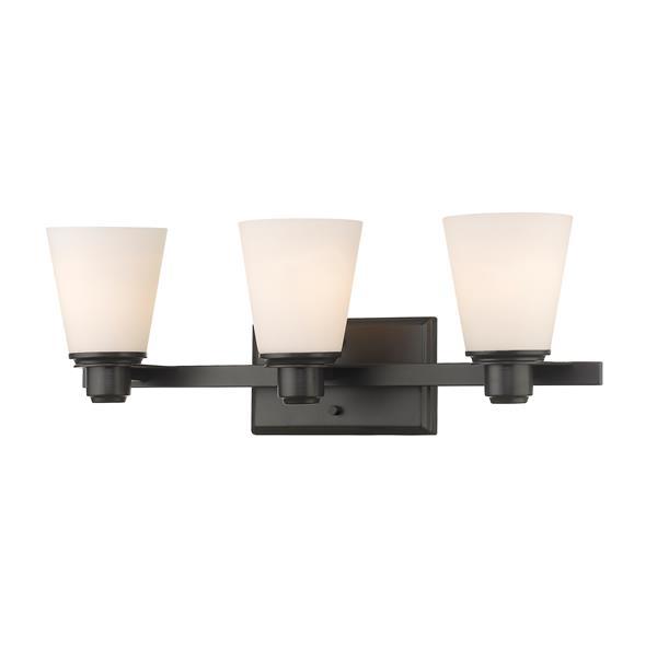 Z-Lite Kayla Transitional 3-Light Vanity Light - Bronze