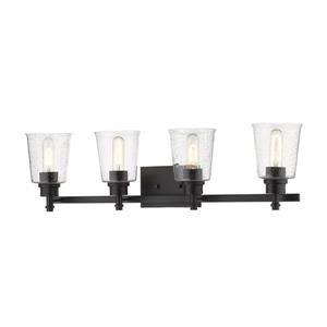 Z-Lite Bohin Contemporary 4-Light Vanity Light - Black