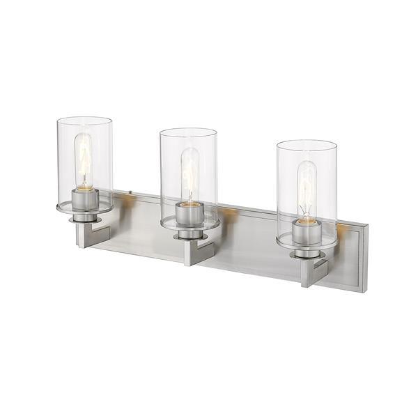 Z-Lite Savannah Modern 3-Light Vanity Light - Nickel