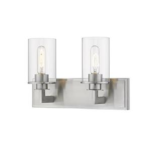 Z-Lite Savannah Modern 2-Light Vanity Light - Nickel