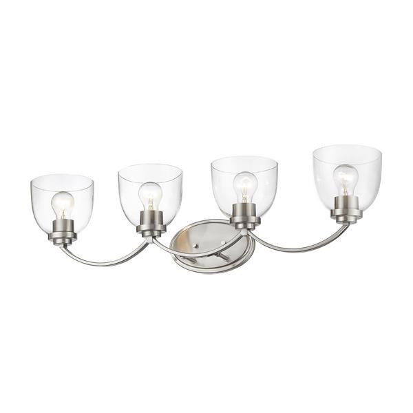 Z-Lite Ashton Transitional 4-Light Vanity Light - Nickel