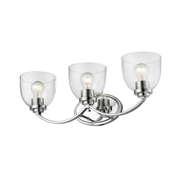 Z-Lite Ashton Transitional 3-Light Vanity Light - Chrome