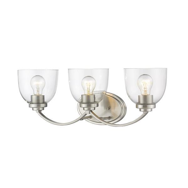 Z-Lite Ashton Transitional 3-Light Vanity Light - Nickel