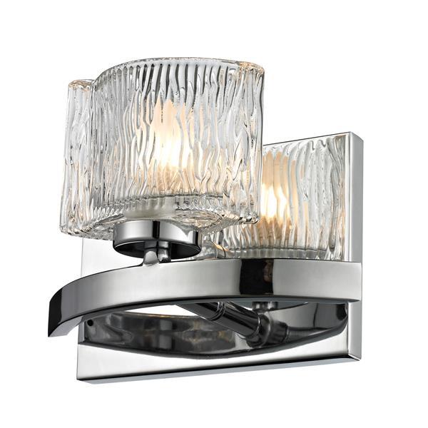 Z-Lite Rai Contemporary 1-Light LED Vanity Light - Chrome