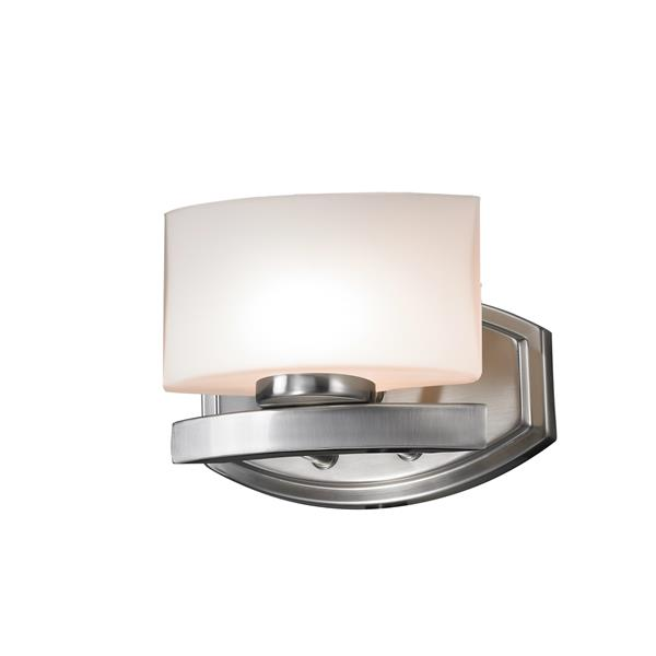 Z-Lite Galati Modern 1-Light LED Vanity Light - Brushed Nickel