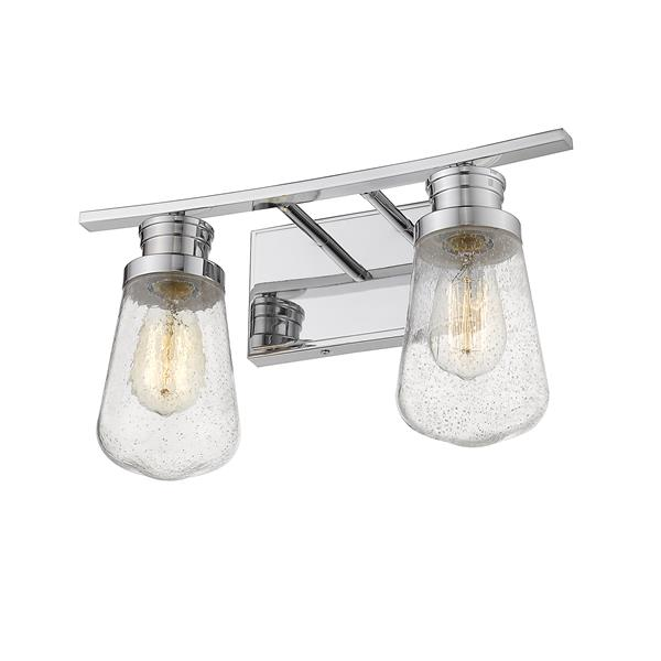 Z-Lite Gaspar Contemporary 2-Light Vanity Light - Chrome