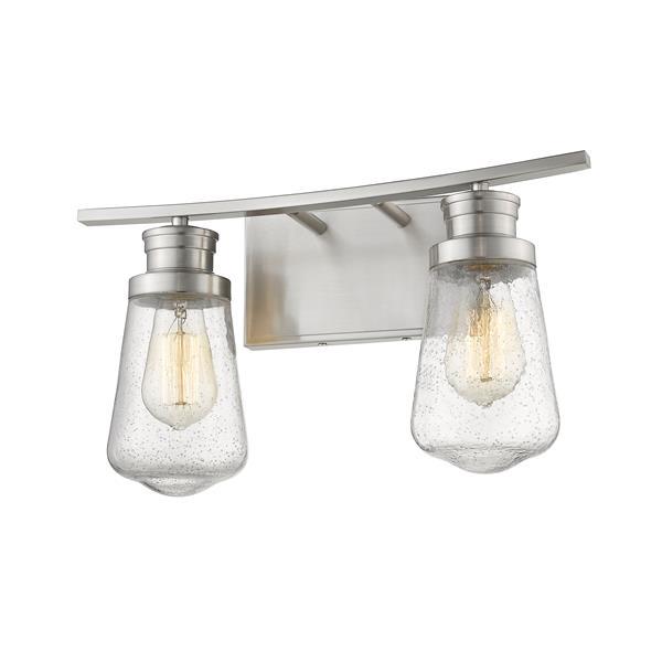 Z-Lite Gaspar Contemporary 2-Light Vanity Light - Nickel