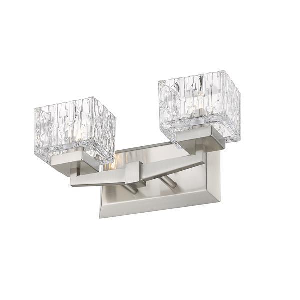 Z-Lite Rubicon Contemporary 2-Light Vanity Light - Nickel