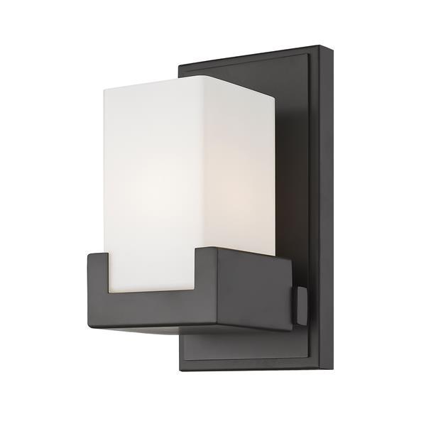 Z-Lite Peak Contemporary 1-Light LED Vanity Light - Bronze