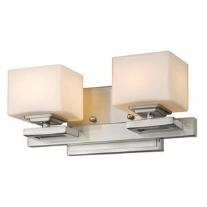 Z-Lite Cuvier Modern 2-Light Vanity Light - Nickel