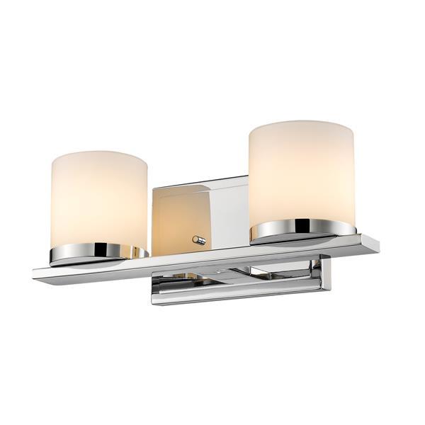 Z-Lite Nori Contemporary 2-Light LED Vanity - Chrome